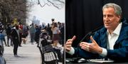 New Yorks borgmästare Bill de Blasio. BRUCE BENNETT /Eduardo Munoz / TT NYHETSBYRÅN