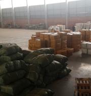 Lagerlokalen där man förvarade vaccinkopior.  Interpol