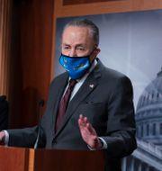 Demokraternas ledare i senaten Leader Chuck Schumer  J. Scott Applewhite / TT NYHETSBYRÅN