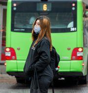 Illustrationsbild munskydd i kollektivtrafiken Claudio Bresciani / TT / TT NYHETSBYRÅN