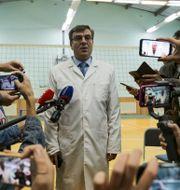 Chefsläkaren på sjukhuset i Omsk där Navalnyj vårdades.  Evgeniy Sofiychuk / TT NYHETSBYRÅN