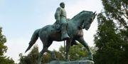Statyn av Robert E. Lee i Charlottesville.  Cliff Owen / TT / NTB Scanpix