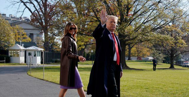 Melania och Donald Trump. JONATHAN ERNST / TT NYHETSBYRÅN