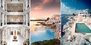 Raffles i Singapore och Hotel du Cap-Eden-Roc på franska rivieran är två favorithotell bland världens rikaste. Raffles / Cap-Eden-Roc / Wikicommons