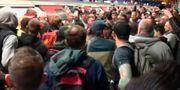 Klimataktivister stoppade tunnelbanelinjer i London. TT NYHETSBYRÅN