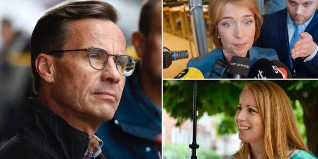 Ulf Kristersson/Annika Strandhäll/Annie Lööf. TT