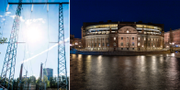 Kraftledning/Sveriges riksdag. TT