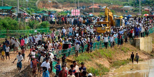 Rohingyiska flyktingar i Bangladesh. MUNIR UZ ZAMAN / AFP