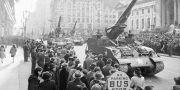 Arkivbild, januari 1946: Segerparad i New York efter andra världskrigets slut. Anonymous / TT NYHETSBYRÅN