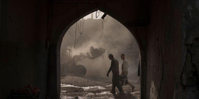 Bild från Mosul. Felipe Dana / TT / NTB Scanpix