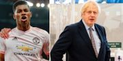Marcus Rashford/Boris Johnson. TT