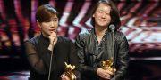 Taiwanesiska regissören Fu Yue och filmproducenten Hong  Ting Yi vid förra årets gala. HuImages / TT NYHETSBYRÅN