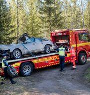 Bilvraket efter olyu Mats Andersson / TT / TT NYHETSBYRÅN