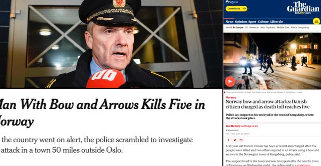 Händelsen har skapat rubriker på flera håll i världen. TT/New York Times/The Guardian