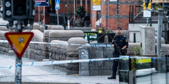 Polis på plats vid Malmö C i somras Johan Nilsson/TT / TT NYHETSBYRÅN