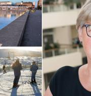 Carola Gunnarsson, förste vice ordförande varnar för vad som kan ske i tre svenska städer om utläppskurvorna fortsätter på dagens nivå. TT/Mats Alm