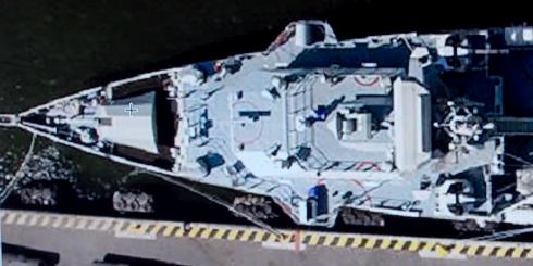 Bild som uppges visa ett fartyg med en kanon från Bofors. TV4