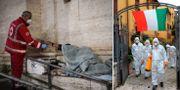 Bilder på räddningspersonal i Italien TT