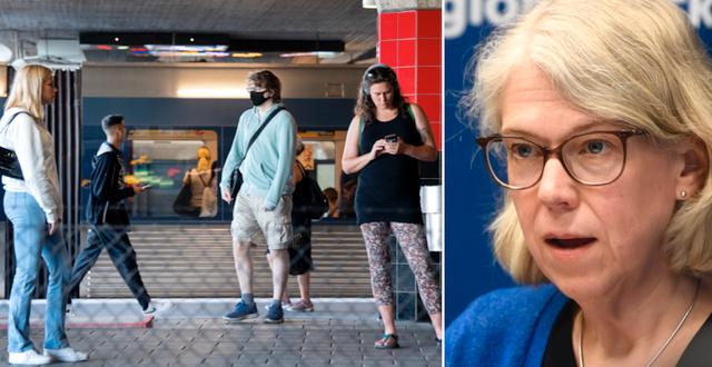 Stockholmare i kollektivtrafiken, arkivbild/Maria Rotzén Östlund TT