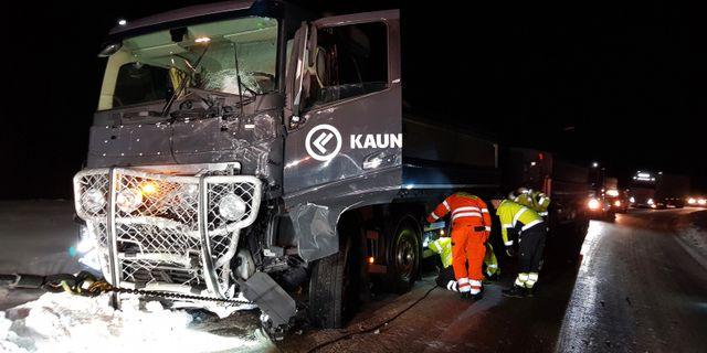 Bild från olycksplatsen.  Maria Engström-Andersson / TT NYHETSBYRÅN