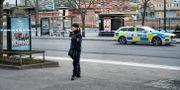 Bild från platsen.  Anders Wiklund/TT / TT NYHETSBYRÅN