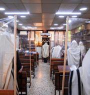 Judar ber under coronapandemin i Israel. Oded Balilty / TT NYHETSBYRÅN