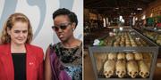 Kanadas generalguvernör Julie Payette och Rwandas kommunikations- och innovationsminister Paula Ingabire.
