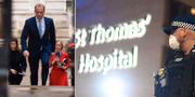 Dominic Raab/sjukhuset där Johnson vårdas TT