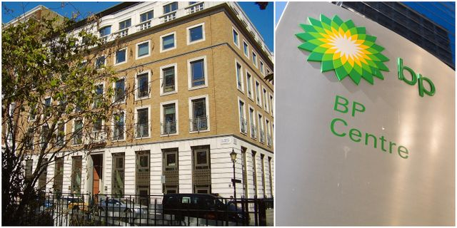 BP:s kontor i London. Wikipedia Commons & Shutterstock