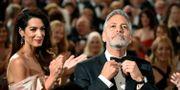 Paret Amal och George Clooney. Chris Pizzello / TT NYHETSBYRÅN/ NTB Scanpix
