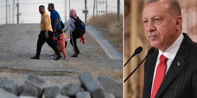 Syriska flyktingar/Erdogan. TT