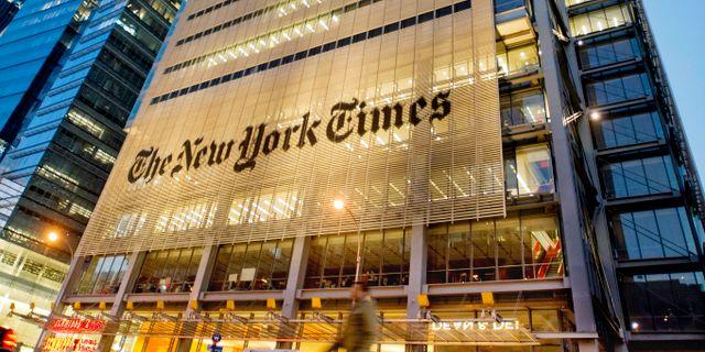 Utanför The New York Times kontor. Arkivbild. Staffan Löwstedt / SvD / TT / TT NYHETSBYRÅN