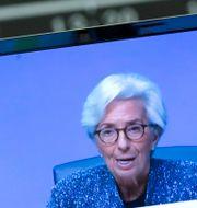 Arkivbild: ECB-chefen Christine Lagarde.  Ralph Orlowski / TT NYHETSBYRÅN