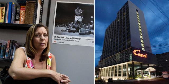 Josefina Vidal, arkivbild/det hotell i Havanna där åtminstone en USA-anställd ska ha utsatts. TT