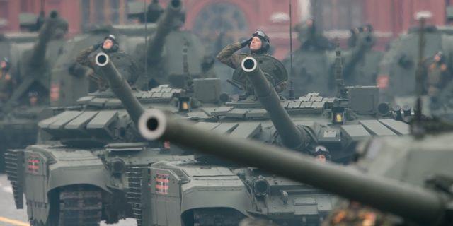 Rysk militärparad i Moskva i maj 2017. Ivan Sekretarev / TT / NTB Scanpix