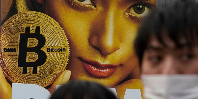 Reklam för bitcoin.  Shizuo Kambayashi / TT NYHETSBYRÅN
