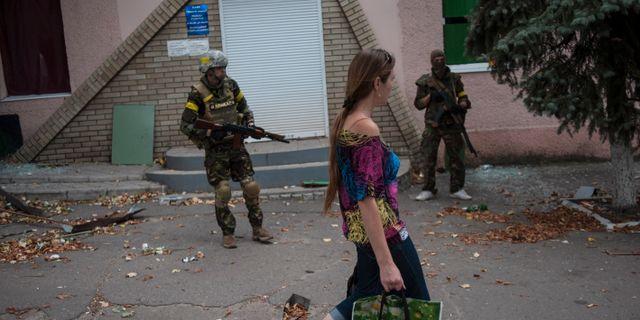 Arkivbild. Donetsk i östra Ukraina, 2014. Evgeniy Maloletka / TT NYHETSBYRÅN/ NTB Scanpix