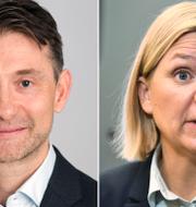 Andreas Wallström och Magdalena Andersson. Swedbank, TT