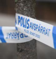 Polisens avspärrningsband. Naina Helén Jåma/TT / TT NYHETSBYRÅN