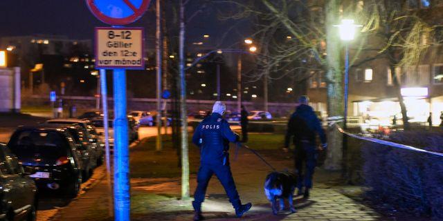 Polisinsatsen efter att 23-åringen dödats på Ramels väg, 2017. Björn Lindgren/TT / TT NYHETSBYRÅN