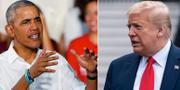Obama och Trump. TT