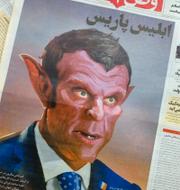 Iranska tidningen/protester på Västbanken TT
