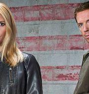Claire Danes som Carrie Mathison och Damian Lewis som Nicholas Brody. Fox