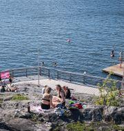 Örnsbergs klippbad i Stockholm. Naina Helén Jåma/TT / TT NYHETSBYRÅN
