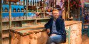"""Björn Ulvaeus på plats i Nikos taverna i London, där """"Mamma mia! The party"""" har premiär den 19 september. Marte Lundby Rekaa / TT NYHETSBYRÅN"""