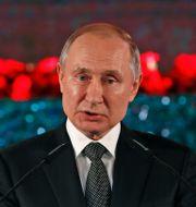 Vladimir Putin talade i Jerusalem. Emmanuel Dunad / TT NYHETSBYRÅN
