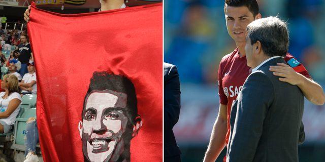 Ronaldo talar ut om polisens tillslag