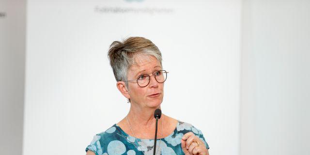 Helena Leufstadius vd för Svensk Kollektivtrafik. Nils Petter Nilsson/TT / TT NYHETSBYRÅN