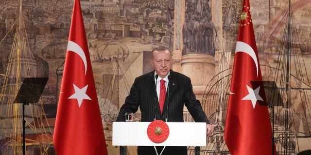 Turkiets president Erdogan. TT NYHETSBYRÅN