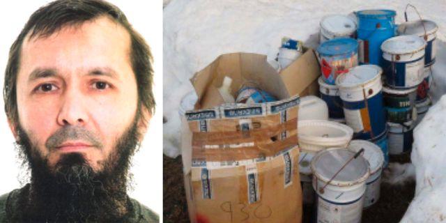 David Idrisson / Kemikalier som påträffats i Strömsund.  Polisen